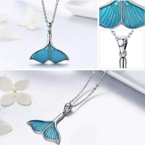 Feshionn IOBI Necklaces Mermaid's Tail Enamel & Sterling Silver Necklace