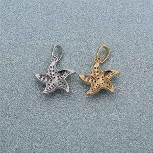 Feshionn IOBI Necklaces Mini Dancing Micro Pave Starfish Pendant Necklace