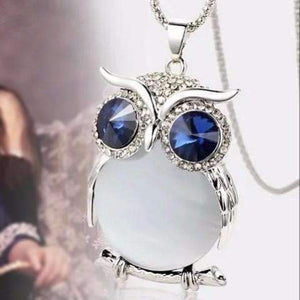 "Feshionn IOBI Necklaces Moonlight ""Night Shades"" Austrian Crystal Owl Cabochon Pendant Necklace ~ Three Colors to Choose!"