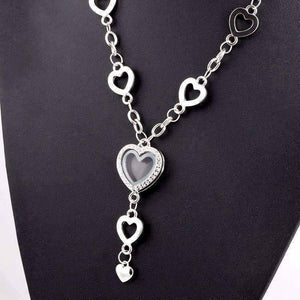 Feshionn IOBI Necklaces My Favorite Things Heart Shaped Charm Locket Necklace in Silver