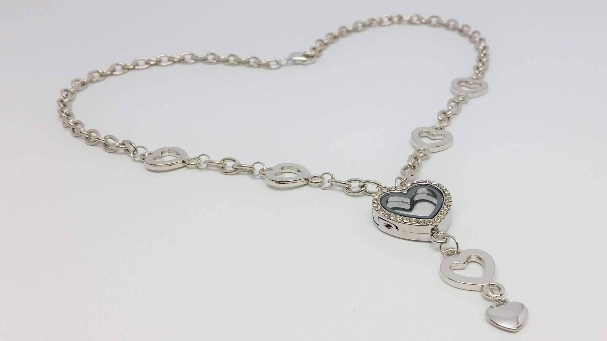 My Favorite Things Heart Shaped Charm Locket Necklace In