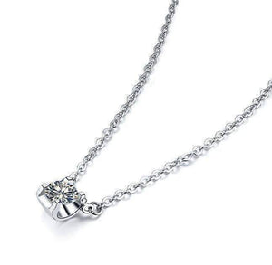 Feshionn IOBI Necklaces Natasha 1CT Tension Set IOBI Cultured Diamond Solitaire Pendant