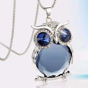 "Feshionn IOBI Necklaces ""Night Shades"" Austrian Crystal Owl Cabochon Pendant Necklace ~ Three Colors to Choose!"