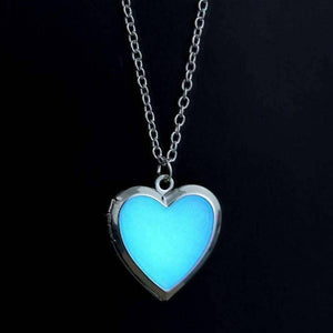 Feshionn IOBI Necklaces ON SALE - Beaming Heart Glow in The Dark Locket Necklace