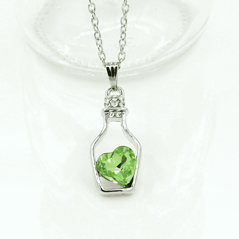 Feshionn IOBI Necklaces ON SALE - Bottled Up Love IOBI Crystals Necklace in June Bud Green