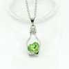 Image of Feshionn IOBI Necklaces ON SALE - Bottled Up Love IOBI Crystals Necklace in June Bud Green