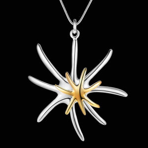 Feshionn IOBI Necklaces ON SALE - Fireworks Two Tone Sterling Silver & Gold Plated Pendant Necklace
