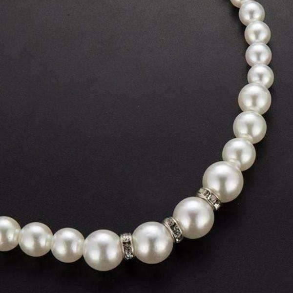 Feshionn IOBI Necklaces Ivory Necklace ON SALE - Ivory Pearl Bead and Crystal Accented Necklace