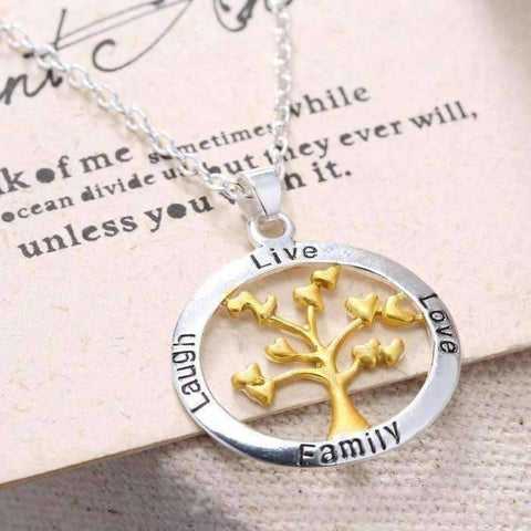 Feshionn IOBI Necklaces ON SALE - Live Love Laugh Family Tree Necklace