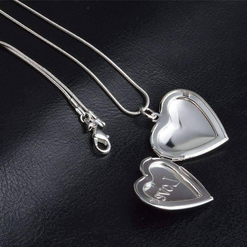 Feshionn IOBI Necklaces ON SALE - LOVE Sterling Silver Heart Locket Necklace