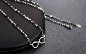Feshionn IOBI Necklaces ON SALE - Micro Pavé Mini Eternity Symbol Sterling Silver Necklace