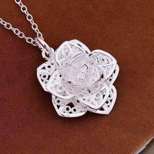 Feshionn IOBI Necklaces ON SALE - Silver Lotus Flower Necklace