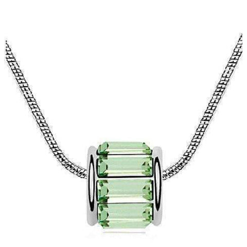 Feshionn IOBI Necklaces Peridot Green Baguette IOBI Crystals Necklace