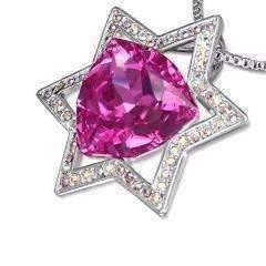 Feshionn IOBI Necklaces Pink Star of David Necklace