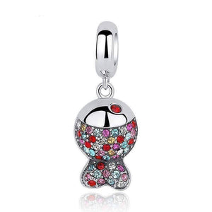 Feshionn IOBI Necklaces Rainbow Fish Pavé CZ Sterling Silver Necklace