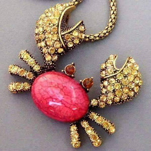 Feshionn IOBI Necklaces Red Sparkly Crab Necklace
