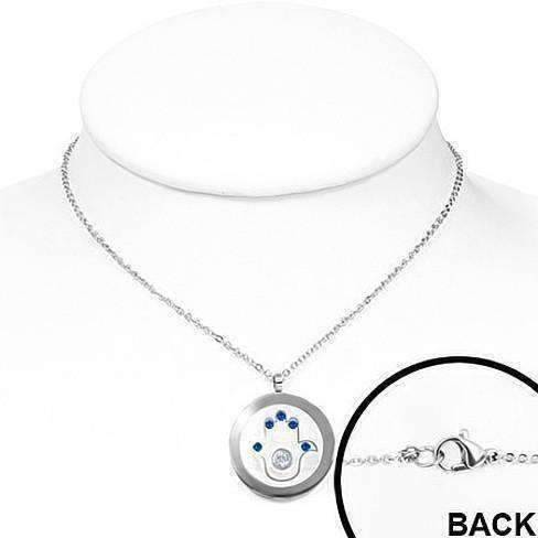 Feshionn IOBI Necklaces Sapphire Blue Sapphire Blue Hamsa Medallion Necklace