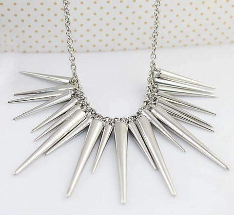 Feshionn IOBI Necklaces Silver Dangling Icicles Necklace in Gold or Silver