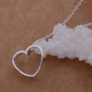 Feshionn IOBI Necklaces Silver Deep In Love Sterling Silver Threaded Necklace