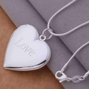 Feshionn IOBI Necklaces Silver LOVE Sterling Heart Locket Necklace