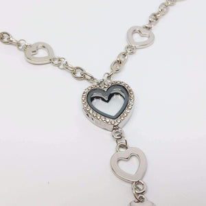 Feshionn IOBI Necklaces Silver My Favorite Things Heart Shaped Charm Locket Necklace in Silver