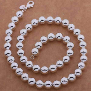 Feshionn IOBI Necklaces Silver ON SALE - Bold Beads Sterling Silver Necklace