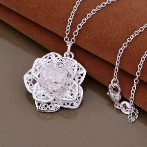 Feshionn IOBI Necklaces Silver ON SALE - Silver Lotus Flower Necklace