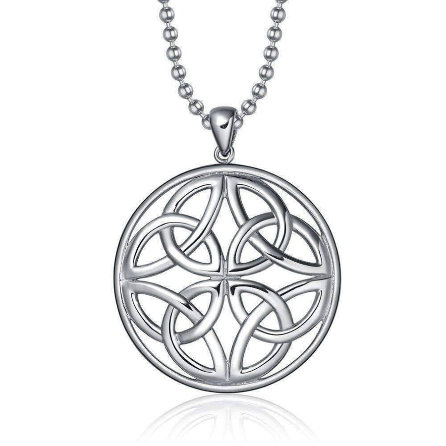 Feshionn IOBI Necklaces Silver ON SALE - Trinity Celtic Knot Pendant Necklace