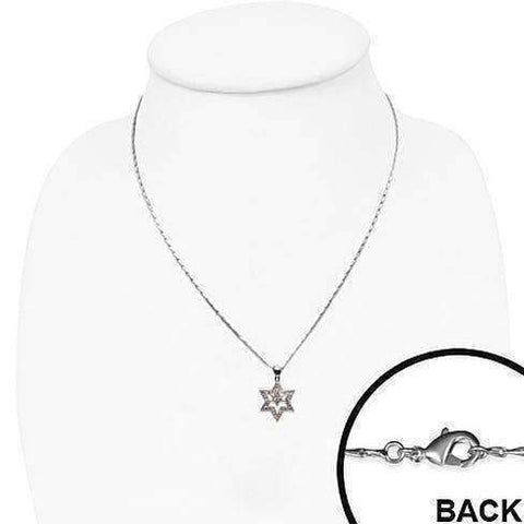 Feshionn IOBI Necklaces Sparkly Double Star of David Necklace