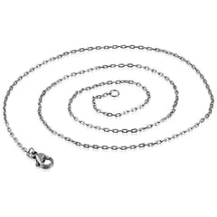 Feshionn IOBI Necklaces Stainless Steel / 18 inch Mini Oval Link Style Stainless Steel Necklace Chain 18 or 23 inches