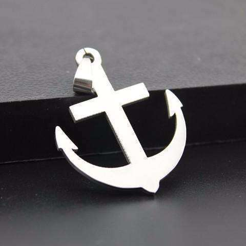 Feshionn IOBI Necklaces Stainless Steel Classic Mariner's Anchor Stainless Steel Necklace