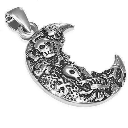 Feshionn IOBI Necklaces Stainless Steel Dead of Night Stainless Steel Pendant Necklace