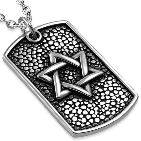 Feshionn IOBI Necklaces Stainless Steel Impressive And Solid Star of David Necklace - Magen David Necklace