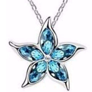 Feshionn IOBI Necklaces Starfish Flower Jewel IOBI Crystals Necklace - Choose Your Color