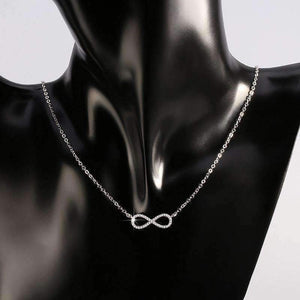 Feshionn IOBI Necklaces Sterling Silver ON SALE - Micro Pavé Mini Eternity Symbol Sterling Silver Necklace