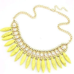ON SALE - Funky Glam Bright Boho Bead and Rhinestone Collar Necklace