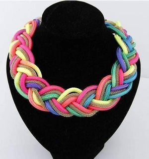 Feshionn IOBI Necklaces Vibrant Braided Mesh Choker Necklace