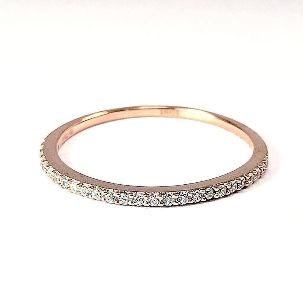 brilliant three pin diamond cultured row champagne ring