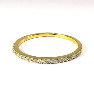 Feshionn IOBI Rings 4 / 18K Yellow Gold Lillianne .22CT Pavé Band IOBI Cultured Diamond Ring