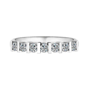 Feshionn IOBI Rings 4.25 Colette 1CTW Bar Set Half Eternity Band IOBI Cultured Diamond Ring
