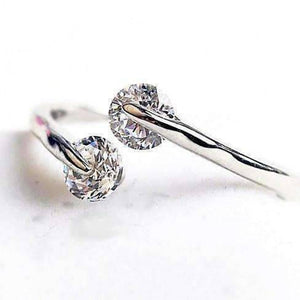 Feshionn IOBI Rings 4 / Crystal Clear ON SALE - Double Glimmer 2 Stone Ring - Choose Your Color