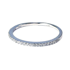 Feshionn IOBI Rings 4 / Platinum Lillianne .22CT Pavé Band IOBI Cultured Diamond Ring