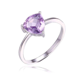 Feshionn IOBI Rings 5 / Amethyst Ring Amethyst Trillion Cut 1CT IOBI Precious Gems Solitaire Ring
