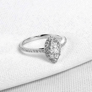 Feshionn IOBI Rings 5 Arabella 1CT Marquise Cut Halo IOBI Cultured Diamond Ring