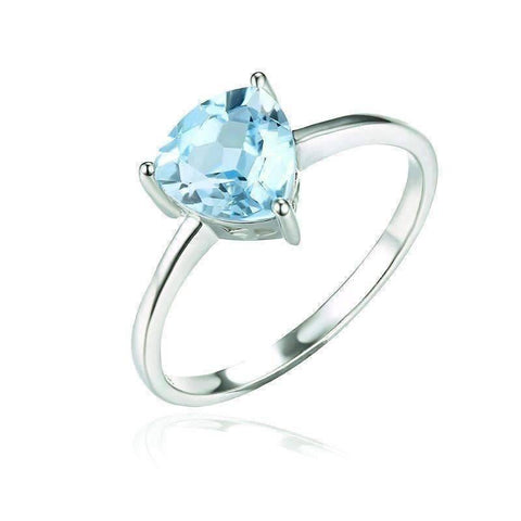 Feshionn IOBI Rings 5 / Ice Blue Trillion Ring Ice Blue Genuine Topaz Trillion Cut 1.4 CT IOBI Precious Gems Ring