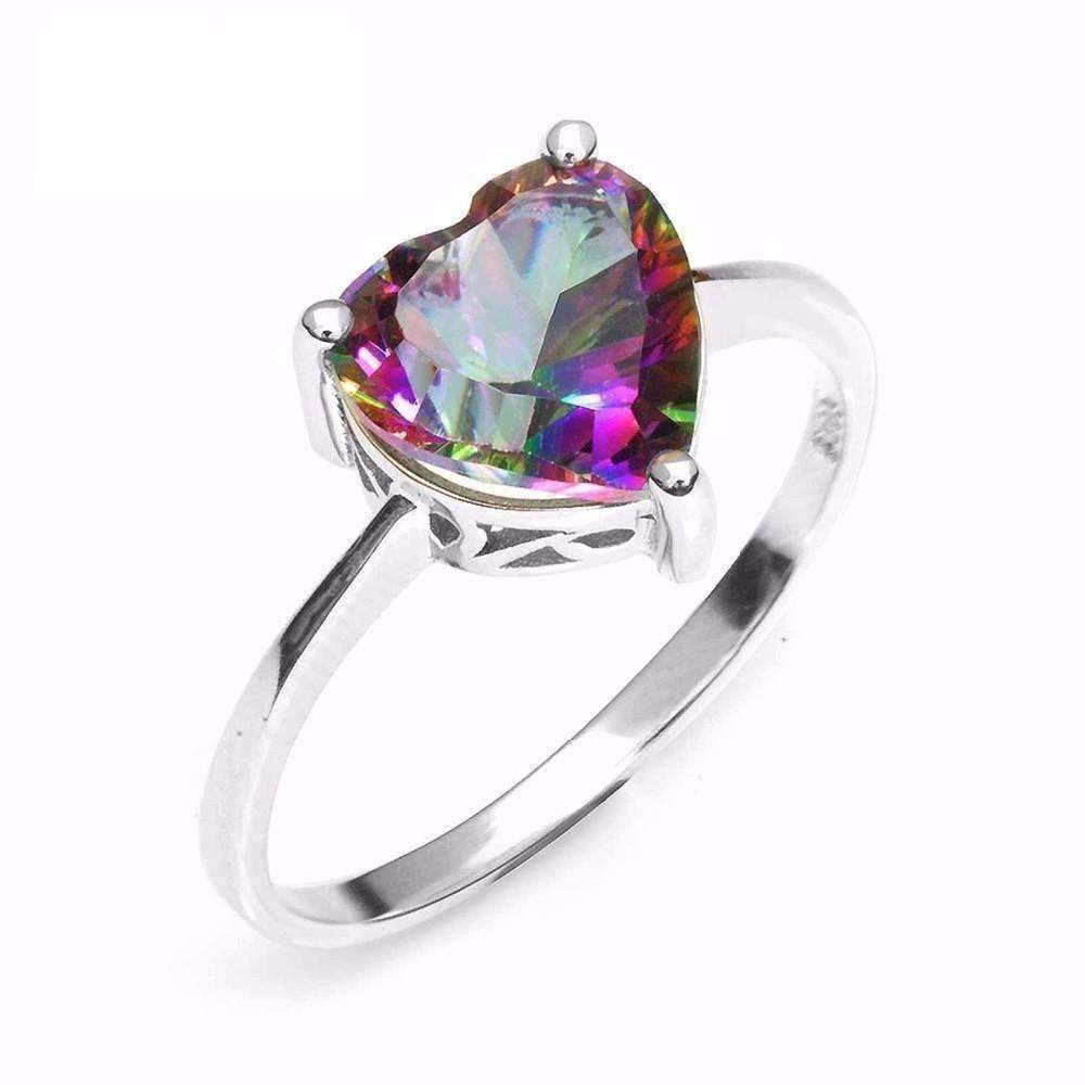 with new graceful engagement rings plated mystic of topaz opal white rhodium ring black fire