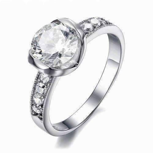 Eternal Love CZ Solitaire Stainless Steel Engagement Ring ...