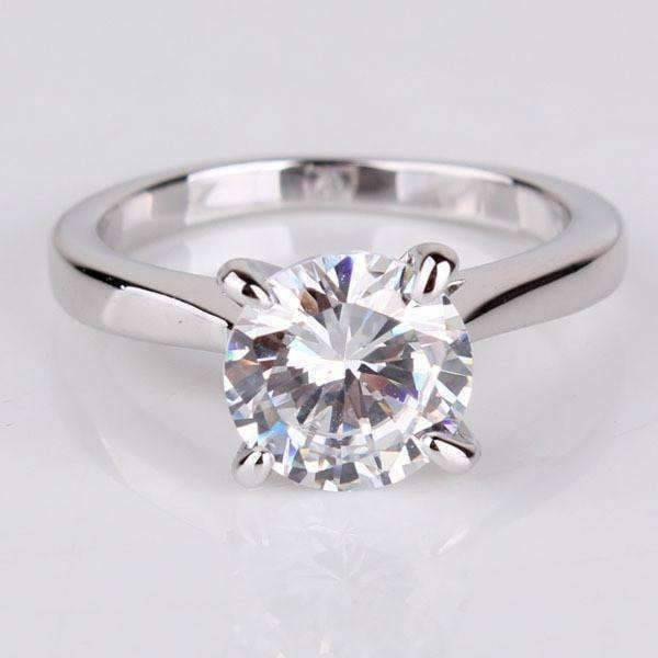 Engagement Rings Sale Price: Cathedral Set CZ Solitaire Engagement Ring