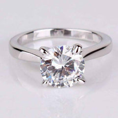 ON SALE - Cathedral Set CZ Solitaire Engagement Ring