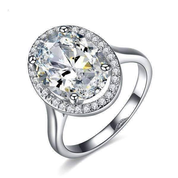 """Engagement Ring For Sale Grande Prairie: """"Celebrity"""" 6 Carat Oval Engagement Ring In"""